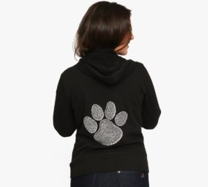 Family Bling hoodie w silver bling